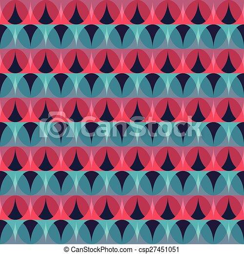 red mosaic seamless pattern - csp27451051