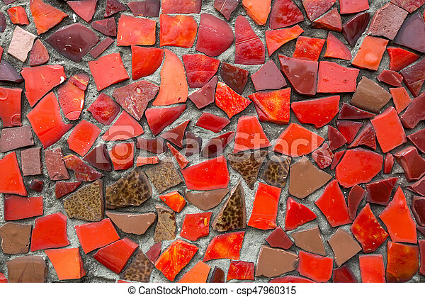Red Mosaic Tile Background