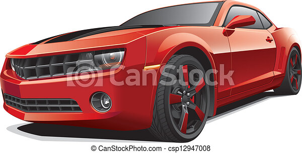 red muscle car - csp12947008