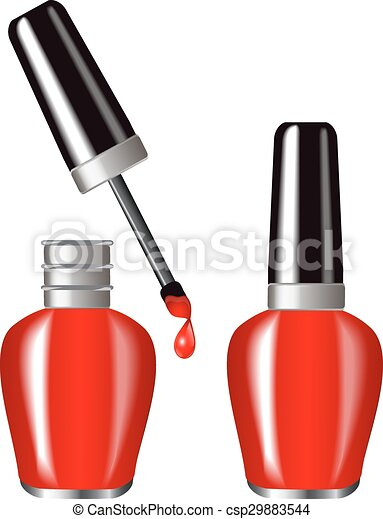 bright red nail polish in a brilliant flakone butylka eps vector rh canstockphoto co uk free clipart nail polish bottles Manicure Clip Art Free