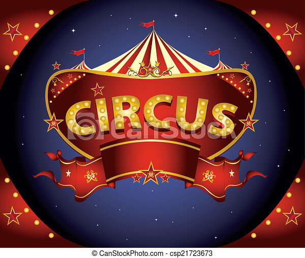 Red night circus sign - csp21723673