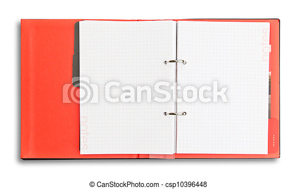 red notebook isolated - csp10396448