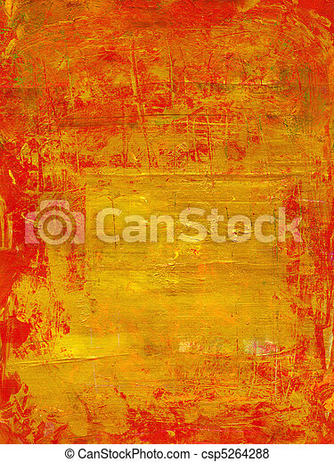 red on gold texture - csp5264288