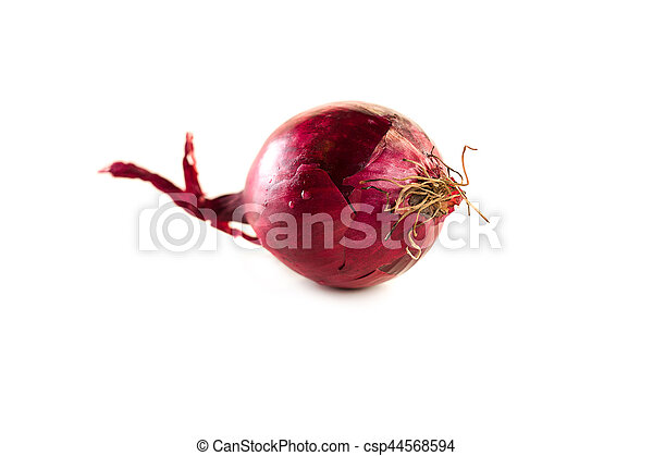 Red onion isolated on white background - csp44568594