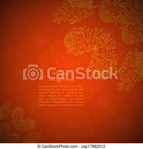 Red ornament background - csp17962012
