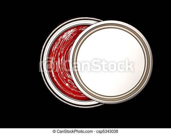 Red Paint can from above - csp5343038