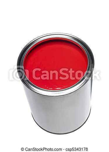 Red Paint can - csp5343178