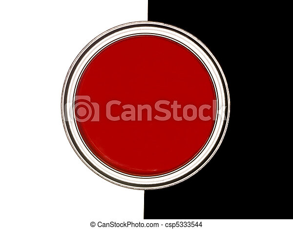 Red Paint can - csp5333544