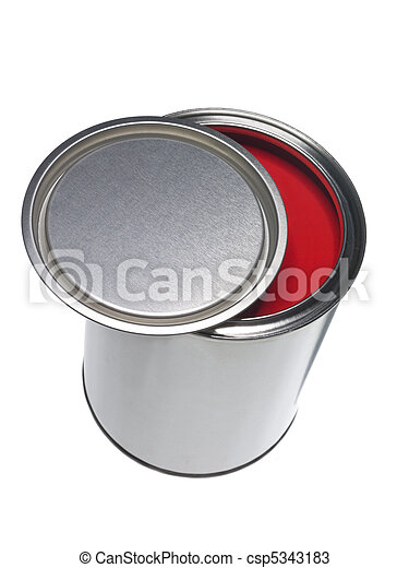 Red Paint can - csp5343183