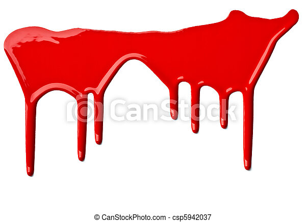 red paint leaking art - csp5942037