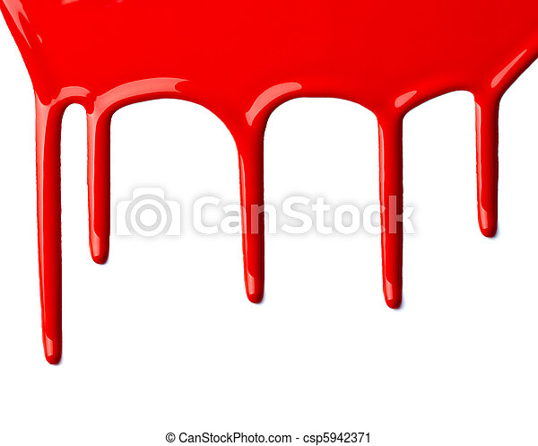 red paint leaking art - csp5942371