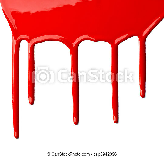 red paint leaking art - csp5942036