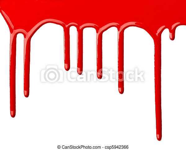 red paint leaking art - csp5942366
