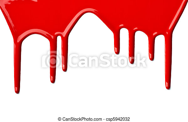 red paint leaking art - csp5942032