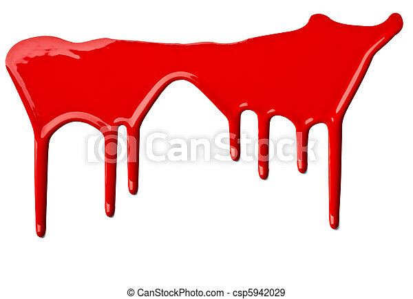 red paint leaking art - csp5942029