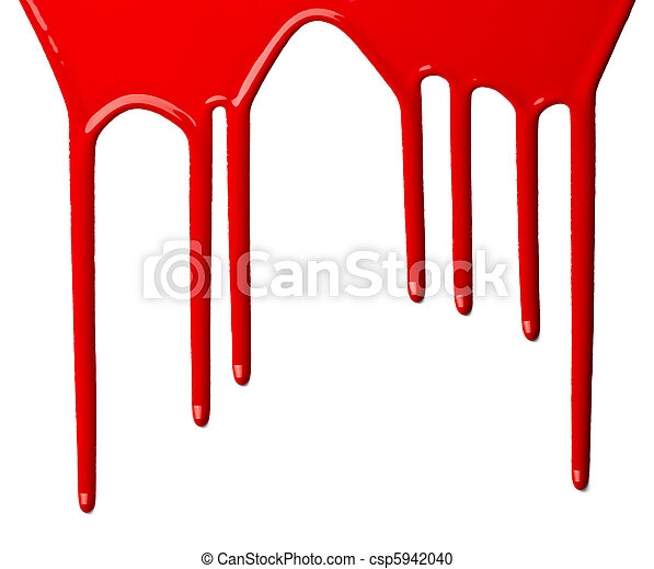 red paint leaking art - csp5942040