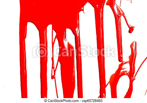 Red paint on a white background - csp65728463