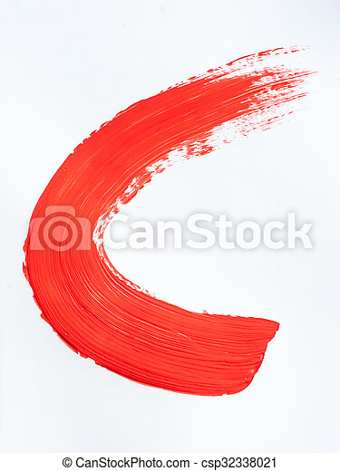 red paint on a white background - csp32338021