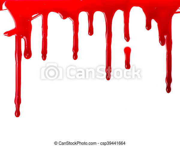 Red paint pouring - csp39441664