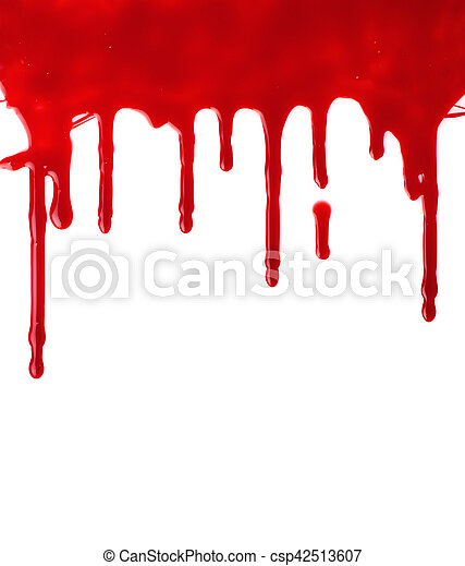 Red paint pouring - csp42513607