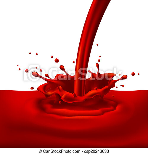Red paint splashing - csp20243633