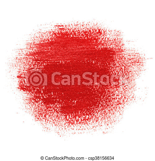 Red Paint Spot Drawn With Brush Stroke Round Paint Spot Drawn