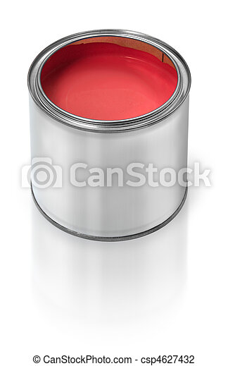 Red paint tin can - csp4627432