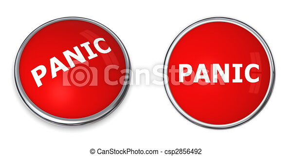 Red Panic Button - csp2856492