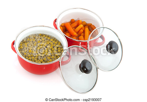 red pans with vegetables - csp2193007