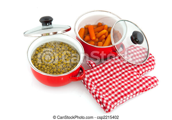 red pans with vegetables - csp2215402