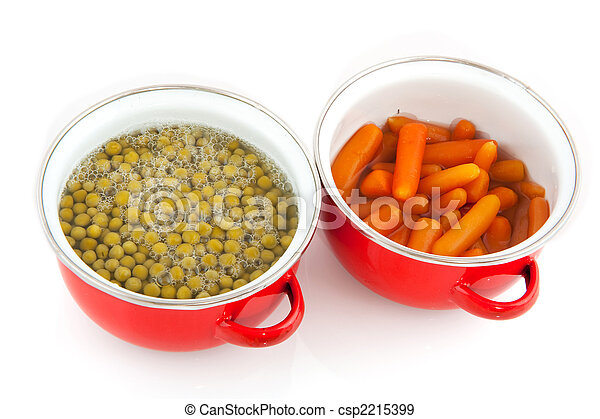 red pans with vegetables - csp2215399