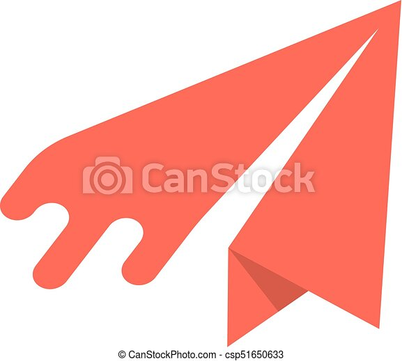 red paper airplane icon - csp51650633