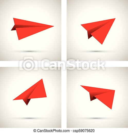 red paper airplane - csp59075620