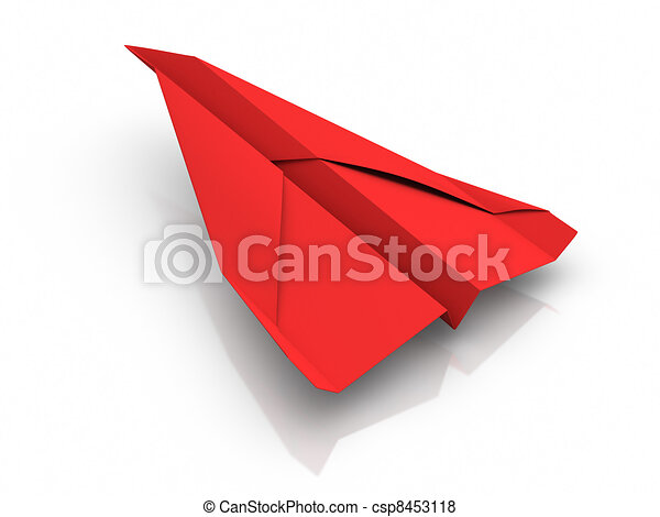 Red Paper Airplane - csp8453118