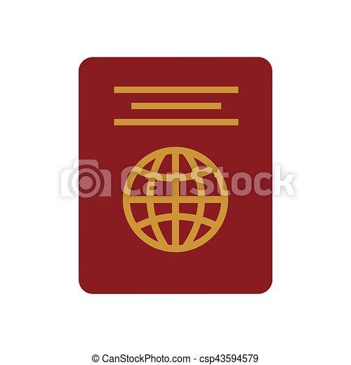 red passport identification tourist - csp43594579