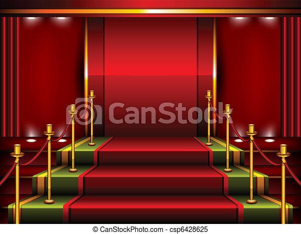 Red pedestal - csp6428625