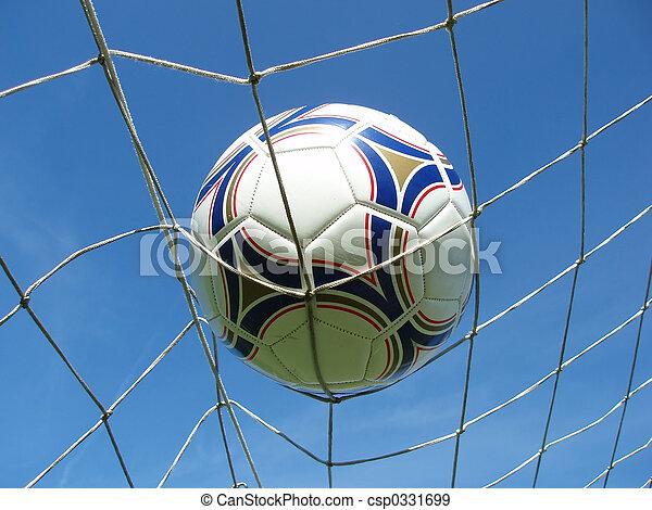 Red de fútbol con pelota - csp0331699