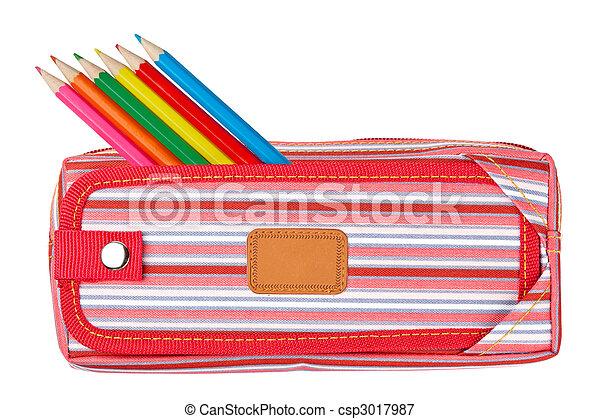 Red pencil case - csp3017987