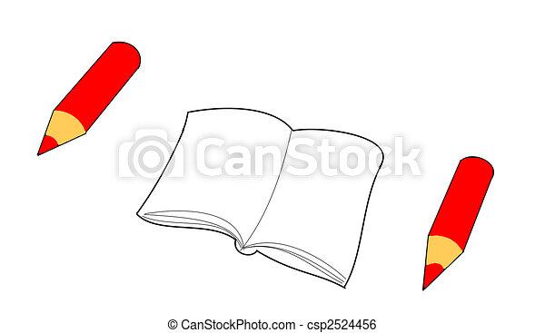 red pencil - csp2524456