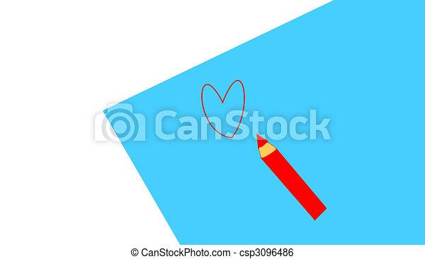 red pencil - csp3096486