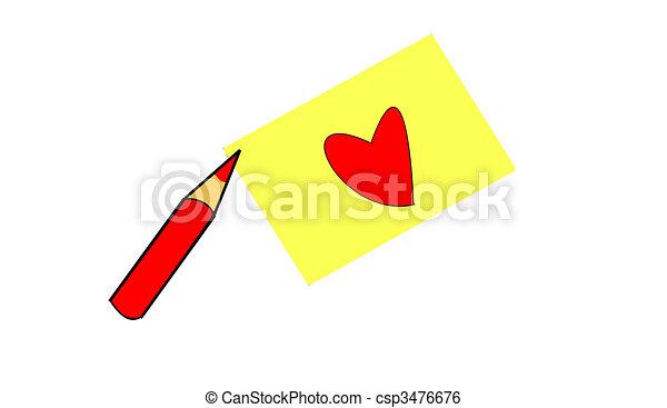 red pencil - csp3476676