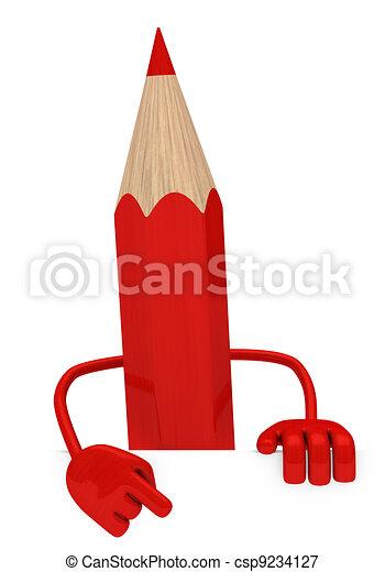 red pencil - csp9234127