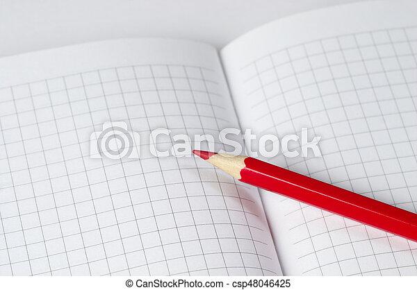 Red pencil - csp48046425