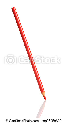 Red pencil - csp25059609