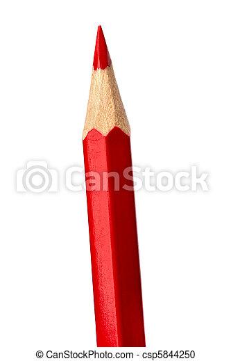 Red pencil  - csp5844250