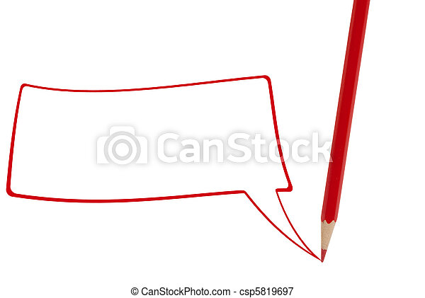Red pencil writing  - csp5819697