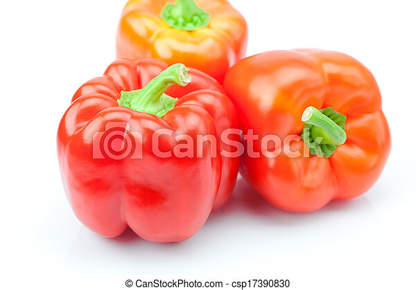 red pepper isolated on white - csp17390830