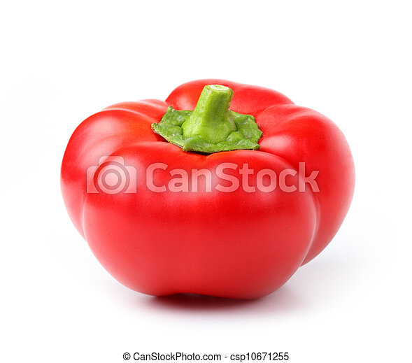 red pepper on white - csp10671255