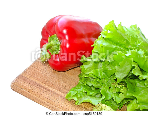 red pepper salad on a plate - csp5150189