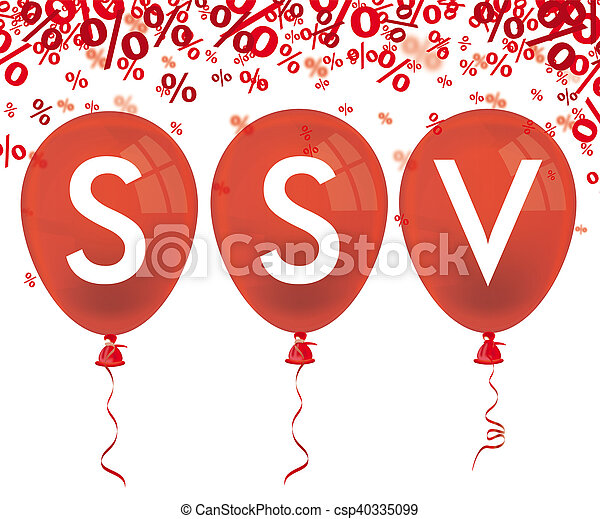 Red Percents 3 Red Balloons SSV